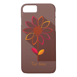 Abstract Autumn Flower Template iPhone 7 case