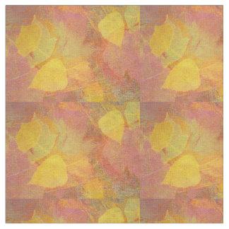 Abstract Autumn Leaf Light Fabric