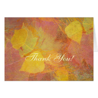 Abstract Autumn Leaf Light Thank You Card