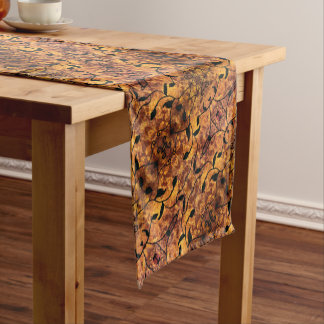 Abstract Autumn Leaf Silhouette Short Table Runner