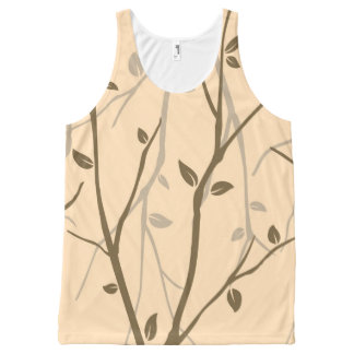 Abstract Autumn Leaves All-Over Print Tank Top