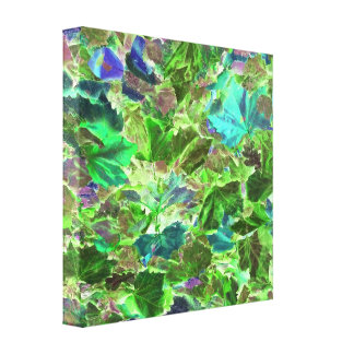 Abstract Autumn Leaves Canvas Print