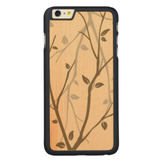 Abstract Autumn Leaves Carved® Maple iPhone 6 Plus Case