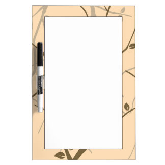Abstract Autumn Leaves Dry Erase Board