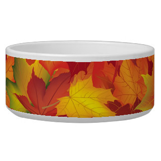 Abstract Autumn Leaves Pattern