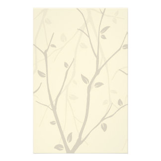 Abstract Autumn Leaves Stationery Design