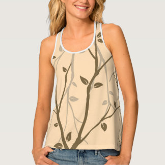 Abstract Autumn Leaves Tank Top