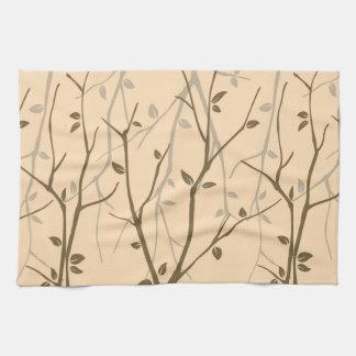 Abstract Autumn Leaves Tea Towel
