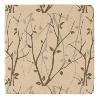 Abstract Autumn Leaves Trivets