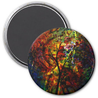 Abstract Autumn Magnet