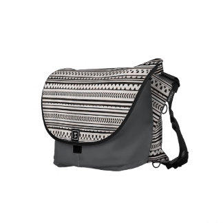 Abstract Aztec Geometric Triangle Messenger Bag