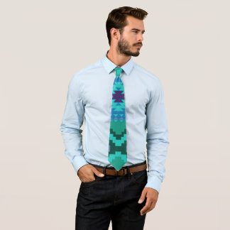 Abstract Aztec Pattern Tie