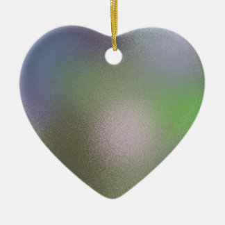 Abstract B Ceramic Heart Decoration