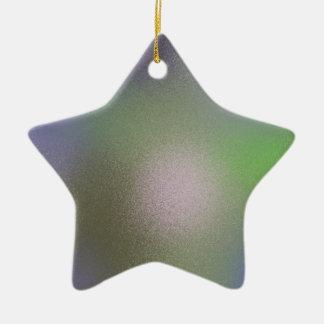 Abstract B Ceramic Star Decoration