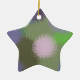 Abstract B Version 2 Ceramic Star Decoration