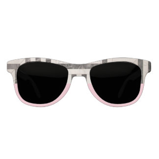 Abstract B&W and Pink Statement Sunglasses