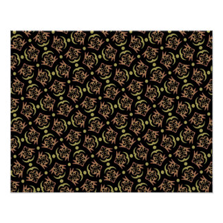 Abstract Background Black And Brown Pattern- Poster