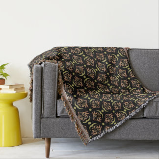 Abstract Background Black And Brown Pattern Throw Blanket