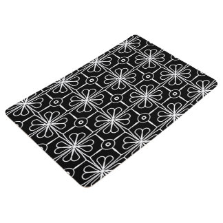 Abstract Background Black And White Seamless Floor Mat