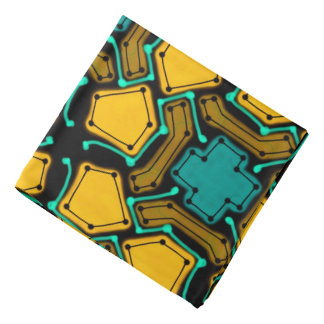 Abstract Background Blue And Brown Bandana
