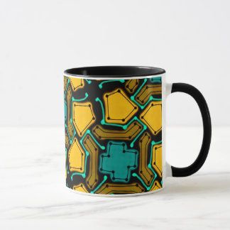 Abstract Background Blue And Brown Mug