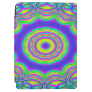 Abstract Background Blue And Green Concentric Star iPad Air Cover