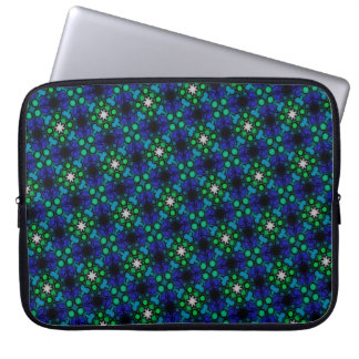 Abstract Background Blue And Green Pattern Laptop Sleeve