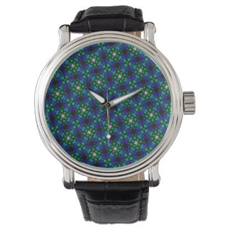 Abstract Background Blue And Green Pattern Watch