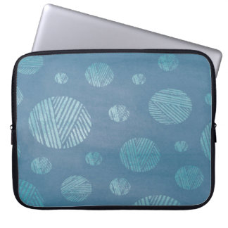 Abstract Background Blue Circles Laptop Sleeve