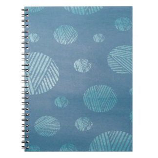 Abstract Background Blue Circles Notebook