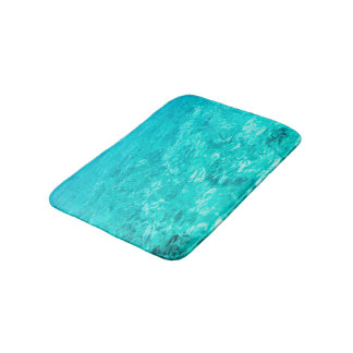 Abstract Background Blue Water Surface Bath Mat