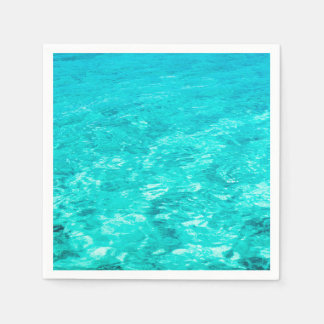 Abstract Background Blue Water Surface Paper Napkin