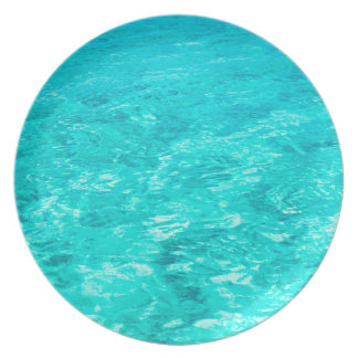 Abstract Background Blue Water Surface Party Plate