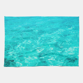 Abstract Background Blue Water Surface Tea Towel