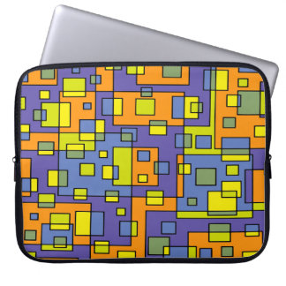 Abstract Background Blue Yellow And Green Laptop Sleeve