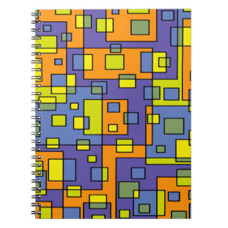 Abstract Background Blue Yellow And Green Spiral Notebook