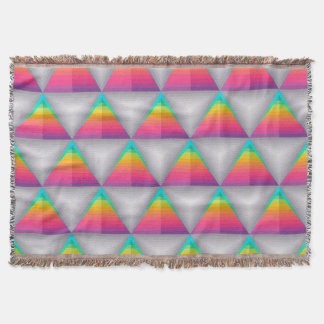 Abstract Background Colorful Diamond Shape Throw Blanket