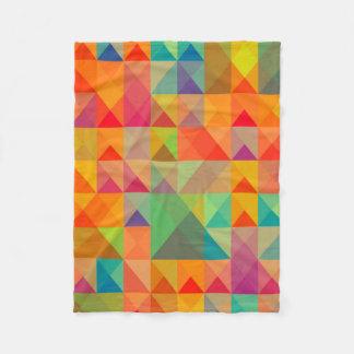 Abstract Background Colorful Fleece Blanket
