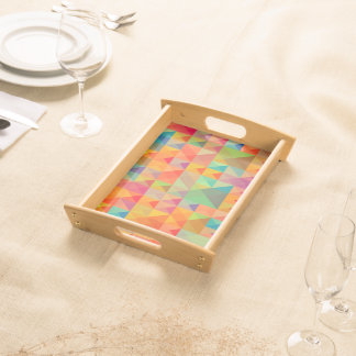 Abstract Background Colorful Serving Tray