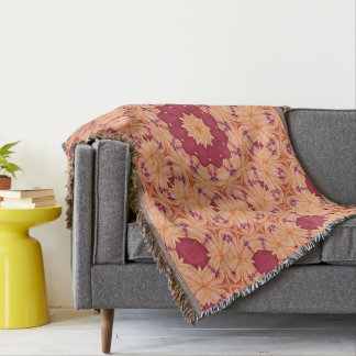 Abstract Background Concentric Flowers Throw Blanket