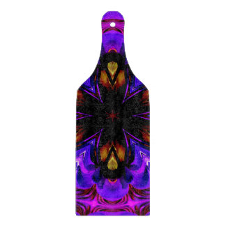 Abstract Background Dark Purple And Blue Cutting Board