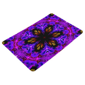 Abstract Background Dark Purple And Blue Floor Mat