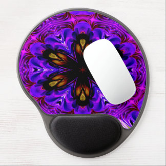 Abstract Background Dark Purple And Blue Gel Mouse Mat