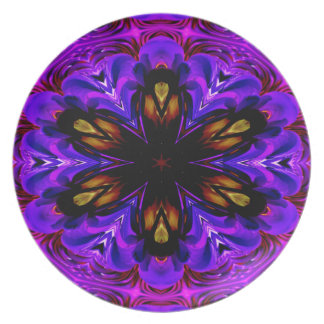 Abstract Background Dark Purple And Blue Party Plates