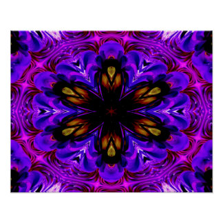 Abstract Background Dark Purple And Blue Poster