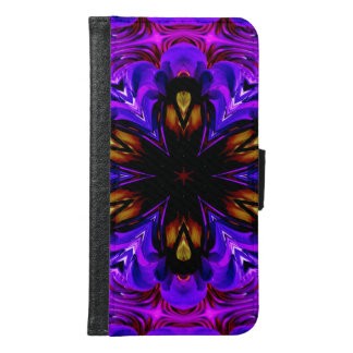 Abstract Background Dark Purple And Blue Samsung Galaxy S6 Wallet Case