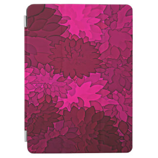Abstract Background Dark Purple Floral iPad Air Cover
