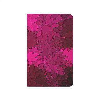 Abstract Background Dark Purple Floral Journal