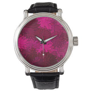 Abstract Background Dark Purple Floral Watch