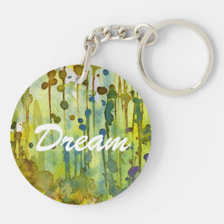 abstract background Double-Sided round acrylic key ring